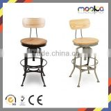 Round Seat Toledo Industrial Bar Stool Wooden Seat Toledo Industrial Bar Stool Replica Toledo Industrial Bar Stool