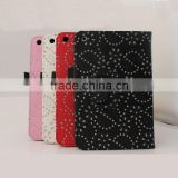 fashion maple leaf design leather protective case for ipad 2 3 4, for ipad mini leather flip covers