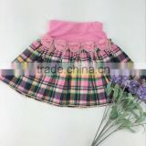 2016 new arrival hotsale baby girls mini skirt kids floral plaid dress school girl short skirt wholesale with factory price