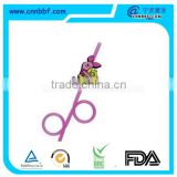 Promotion products 2 circles drinking straws with logo