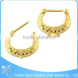 Factory Customized Fashion India Gold Septum Clicker Body Jewelry Septum
