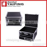 Black Waterproof Metal Tool Box Aluminum Tool Case with Drawer