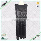 Black fashion shell mesh check zipper strapless dresses Transparent Dress Black sequin Tight Dress night dress