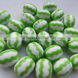 Chunky Green Zig Zag Chevron Print beads, Fashion Resin Chevron Strips Beads for Kids Chunky Beads Necklace