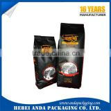 Matt black coffee bag with valve, foil ziplock coffee pouch, coffee packing roll film