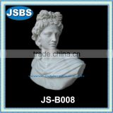 Man Made White Marble Roman Bust Of Male For Sale