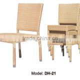 Rattan furniture outdoor plastic chair /Rattan dining chair/dining table and chair (DH-21)