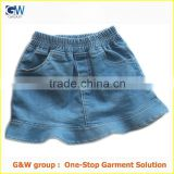 wholesale hot sale latest design fashion denim baby girls skirt