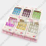 Plastic 3D Nail Art Stickers, Artificial Fingernails, No Adhesive, Mixed Color, 12pcs/box(AJEW-R026-03)