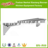(BN-R09-2) Cosbao Stainless Steel Multiple Wall Mount Shelving/commercial shelving brackets/wall mounted industrial shelving