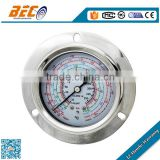(YF-60BD) 60mm common size panel mounting oil filled shockproof type manometer set r12 r22 r134a r410a refrigeration