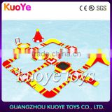 inflatable new red yellow giant water park for adult,0.9mm pvc tarpaulin floating water park,amusment water playground