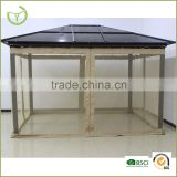 Polycarbonate Pavillion Gazebo 3 x 3.6m Garden Cover Sunshade Hard top Gazebo                                                                         Quality Choice