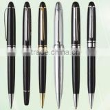 Golden and black color promotional heavy metal ball pens with logo on barrel for promotional items