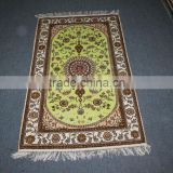 green color iranian silk carpets for sale in guangzhou