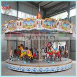 Amusement ride carousel hores for romantic lovers