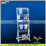 Hot selling custom fashion free standing metal wire mobile phone cellular accessories rack