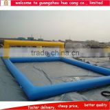 High quality inflatable water park equipment, inflatable volleyball arena, inflatable water volleyball court