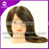 100% Natural human hair training doll head/training mannequin head                                                                         Quality Choice