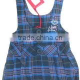latest dress designs girls plaid dress baby clothes suspender skirt