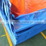 TARPAULIN IN WOVEN FABRIC BLUE/ORANGE FACTORY BEST SELL 3 FEET ALUMINUM GROMMETS ANTI-AGING TEAR-RESISTANT WHOLESALE CHINA