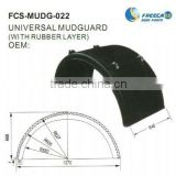 high quality trailer universal mudguard (WITH RUBBER LAYER)