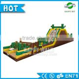 High quality 0.55mm PVC inflatable water obstacle course, inflatable tunnel game,outdoor obstacle course equipment