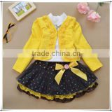 2015 Spring Autumn Fashion Children Clothing Girls Floral Dress Suit Kids Princess Lace Three-piece Sets children girl dress G10