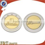 gold silver wedding gifts plain metal gold plated tungsten coin for guests