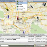 Convenient management of vehicle GPS tracking software,Can locate, monitoring, alarm etc