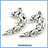 Wholesale Carved Surface Meniscus Shape Thailand Jewelry Findings PB-P6208