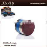 zinc alloy Best Seller High Quality Anodized Smooth CNC Herb Grinder JL-013JA