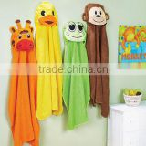 Animal Face Hooded Woven Terry Baby Towel, bath towel, baby robe