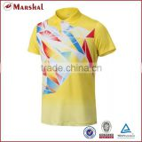 Grade original new badminton shirt,cheap badminton jersey made in Thailand,Badminton uniform with collar