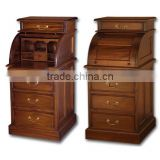 Mahogany Desk Roll Top Mini Indoor Furniture.
