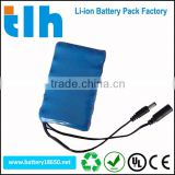 High quality 3.7v 18650 battery lithium ion battery pack 12ah for solar panel