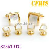 Men's Golden cufflink and studs sets for business