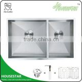 Top grade kitchen equipment--stainless steel handmade kitchen sink/bathroom sink under counter A3218