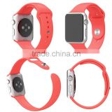 Colorful Silicone Watch Band Watch Strap Belt Sport Bracelet Fitness Replacement Wrist With Connector Adjustment For Apple Watch