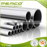 Foshan TOP 3 Pemco Brand Customizable Round Metal decorative 304 316 stainless welded steel pipe
