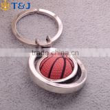 Exquisite Creative Key Chain Rubber Metal Key Ring, Sport Basketball Shape Hangings Gift//