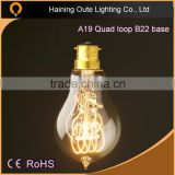 E27 screw base 40W A19 tungsten filament vintage edison bulbs,A19 40W Vintage Edison Filament Bulbs for Antique Decoration