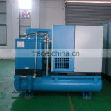 11KW Combined rotary screw type air compressor air supply system with air dryer and air tank receiver and air filter