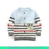 fashion new design 1/4 zip stripes knitting boys pullover sweater