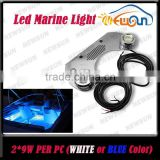 Blue White Bronze and Stainless Steel 316 Light Body for Boat Marines 18W IP68 Waterproof Led Light Underwater Lighting Yacht
