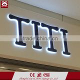 3D led channel letter stainless steel backlit signage led building letters