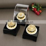 Pure Gold Foil Mooncake statue for Jewelry Store decoration with Acrylic Display Box