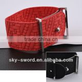 2013 new arrival bracelet leather make customer design promotional item bracelet factory GB10361