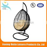 Unique Outdoor rattan swing egg chair dacha rattan egg hanging chair adult garden swings