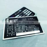 OEM etching and printing metal nameplate for industrial